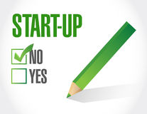No Start-up sign concept illustration. Design artwork royalty free illustration