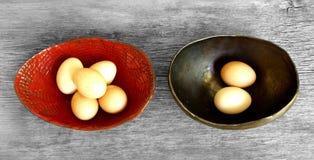 No stawia wszystkie jajek w jeden koszykowym przysłowiu Obraz Stock