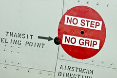 No Step No Grip Sign Royalty Free Stock Photography