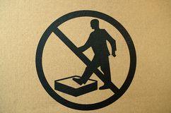 No stepping on surface warning sign royalty free stock photos