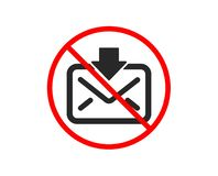 Mail download icon. Incoming Messages correspondence sign. Vector vector illustration