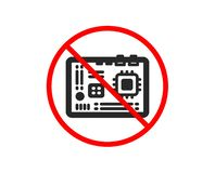 Motherboard icon. Computer component hardware sign. Vector royalty free illustration