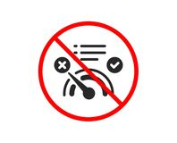 Reject bandwidth meter icon. No internet sign. Vector. No or Stop. Reject bandwidth meter icon. No internet sign. Speedometer symbol. Prohibited ban stop symbol stock illustration