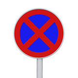 No stopping and parking sign Stock Image