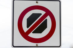 No Stopping sign Royalty Free Stock Photo
