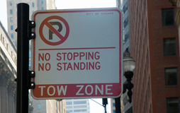 No stopping sign Royalty Free Stock Image