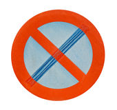 No stopping sign on a white background Stock Image
