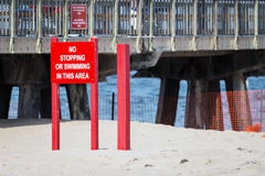 No Stopping Or Swimming In This Area Stock Photography