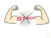 No stress drawing effect educational poster royalty free illustration