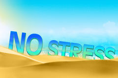 No stress text concept on the beach Stock Photos