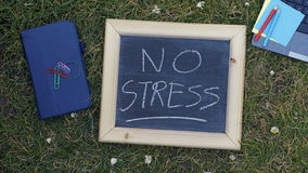 No stress written Stock Photo