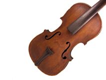 No Strings Attached. Antique violin without any strings attached Stock Photography