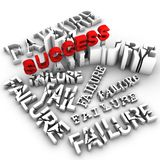 No Success Without Failure Stock Images