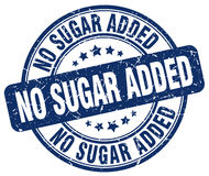 No sugar added blue stamp. No sugar added blue grunge stamp Stock Photo