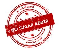 NO SUGAR ADDED distressed red stamp. Illustration graphic concept Royalty Free Stock Photos