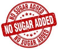 No sugar added red stamp. No sugar added red grunge stamp Royalty Free Stock Photo