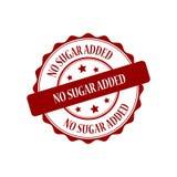 No sugar added stamp illustration. No sugar added red stamp seal illustration design Stock Image