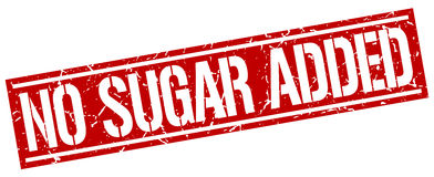 No sugar added square stamp Royalty Free Stock Images
