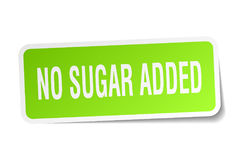 No sugar added square sticker. On white Stock Images