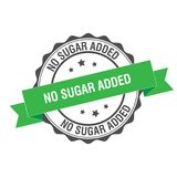 No sugar added stamp illustration. No sugar added stamp seal illustration design Stock Photo