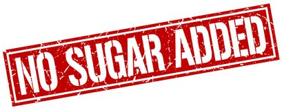 No sugar added stamp. No sugar added square grunge stamp isolated on white background Royalty Free Stock Images