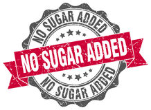 No sugar added stamp. Sign. seal Royalty Free Stock Image