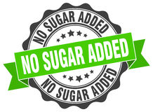 No sugar added stamp. Sign. seal Royalty Free Stock Photography