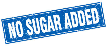 No sugar added stamp. No sugar added square stamp Stock Photography