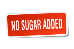 No sugar added sticker. No sugar added square sticker isolated on white background Royalty Free Stock Photography