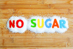 No sugar text from magnetic letters. Concept Royalty Free Stock Images