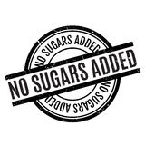 No Sugars Added rubber stamp Stock Image