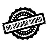 No Sugars Added rubber stamp Stock Photography