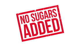 No Sugars Added rubber stamp Royalty Free Stock Photo