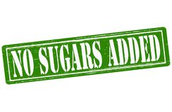 No sugars added. Stamp with text no sugars added inside,  illustration Stock Photos