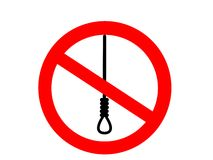 No suicide. An illustration of suicide is forbidden Vector Illustration