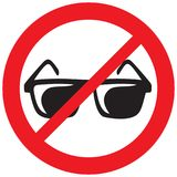 No sunglasses sign Stock Images