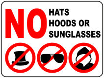 No sunglasses sign on white background. Stock Photography