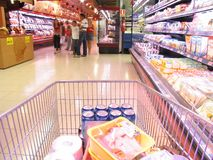 No supermercado Imagens de Stock