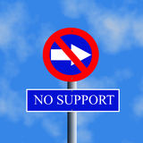 no support sign Royalty Free Stock Image