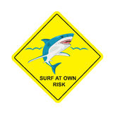 No surf, sharks no swimming sign, vector illustration Royalty Free Stock Images