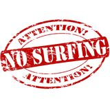No surfing. Rubber stamp with text no surfing inside,  illustration Stock Photo