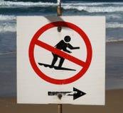 No surfing sign Stock Photos