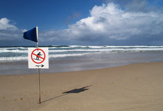 No surfing sign Royalty Free Stock Image