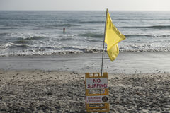 No surfing sign, Oceanside, California Royalty Free Stock Image
