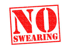 NO SWEARING Royalty Free Stock Images