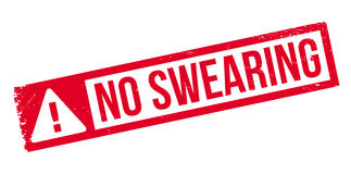 No Swearing rubber stamp Stock Images