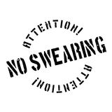 No Swearing rubber stamp Royalty Free Stock Photography