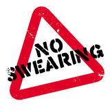 No Swearing rubber stamp Royalty Free Stock Photos