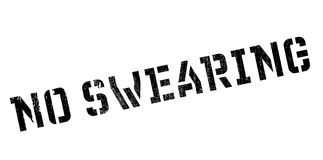 No Swearing rubber stamp Stock Photo