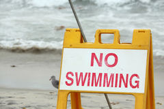 No swimming Royalty Free Stock Images